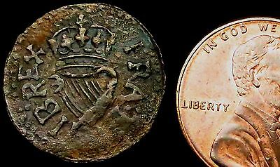 S458: Charles 1st Royal or Richmond Copper Farthing, 1625-49
