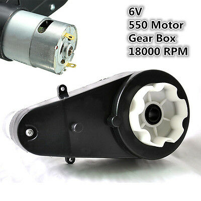 6V 18000 RPM Electric Motor Gear box for Ride On Bike Car Toys Spare Parts