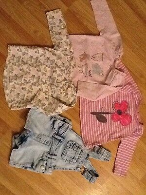 Next 3/6 Months Bundle Sweet Pea T Shirts And Dungarees