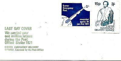 1 Last Day Cover From Great Britain,postal Strike  1971.