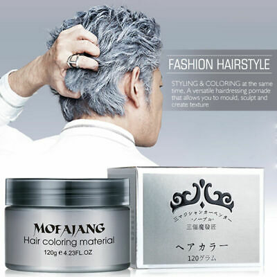 Silver Grey Hair Pomade Professional Hair Wax Natural Hairstyle for Men Women