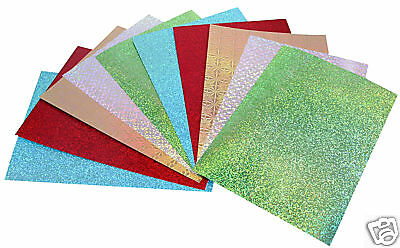 STUNNING HOLOGRAPHIC CARD PACK 10 x A4 SHEETS 250gsm