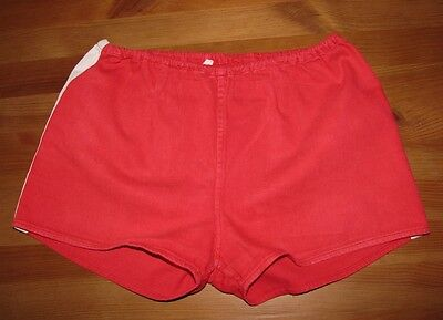 Childrens vintage shorts oldschool red shorts unisex