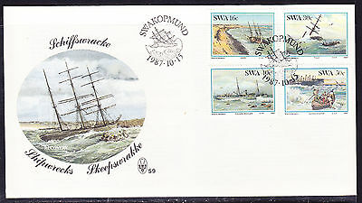 South West Africa  1987 Shipwrecks First Day Cover - Unaddressed