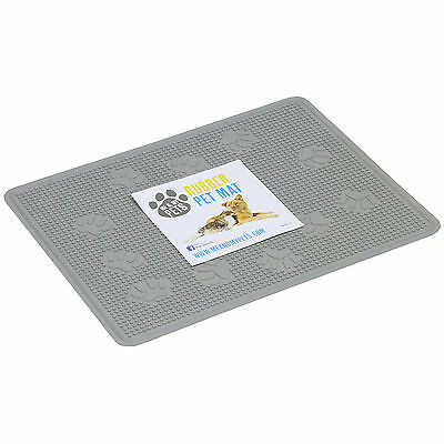 Me & My Grey Rubber Pvc Dog/cat/kitten Pet Floor Mat/placemat/litter Tray Tidy