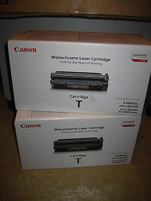 2 x Canon Cartridge T genuine Canon toner cartridges - two for sale