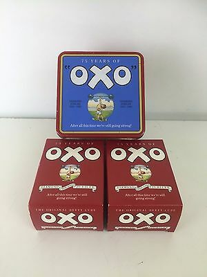 Vintage Diamond Jubilee 1985 Collectable Empty Oxo Tin Commerative With Boxes
