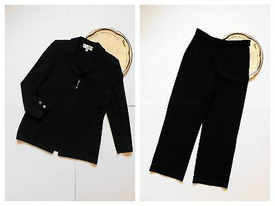 St John Collection by Marie Gray Women's Santana Black Jacket Pants Suit Size 8