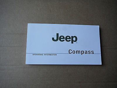 Jeep Compass Owners Manual Handbook 2007-2010 Brand New Unused