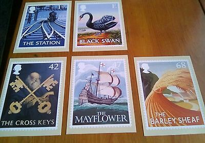 2003 Pub Signs Cards PHQ 256 - Mint Set of 5 Royal Mail Post Cards