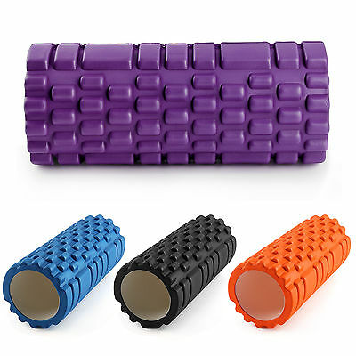 Grid Foam Yoga Roller Trigger Point Gym Pilates Massage Physio 4 Colours 33CM