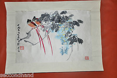 Hand Embroidered Picture Allans Of Duke Street , Chinese Birds   China Bordado