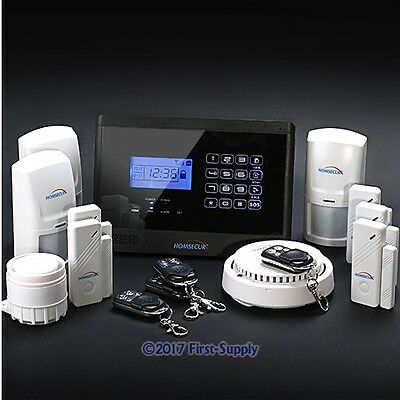 Wireless&wired GSM SMS Home Security Alarm System +3PIR Sensors+ Smoke Sensor