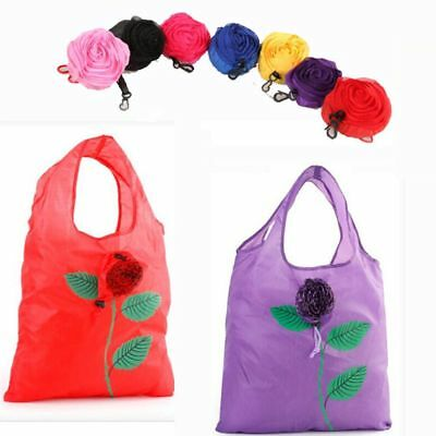 Tote Recycle Fashion Folding Reusable Foldable Shopping Bag Rose And Sunflower