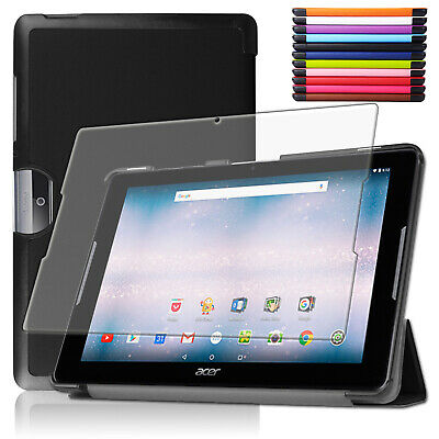 Smart Cover + Schutz Folie Acer Iconia One Tab 10 (B3-A30) Hülle Tasche +Pen-3