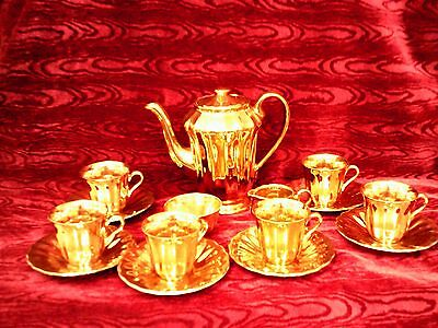 Vintage Wade Gold Lustre 15 Piece 1950's Coffee Set