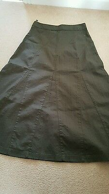 Laura Ashley Green a line skirt size 10 Excellent condition!