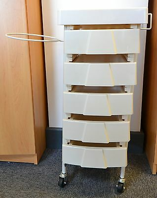 Deluxe Wax Trolley with Bowl Holder Plastic Trolley Beauty Salon Equipment