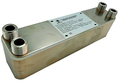 Stainless steel plates PLATE HEAT EXCHANGER  brazed 3/4 90-210kW NORDIC Ba-23