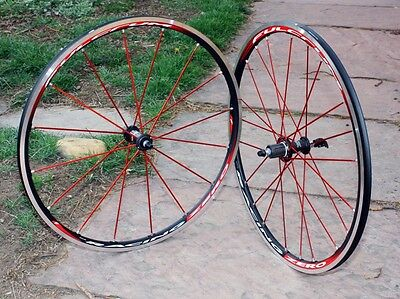 Fulcrum Racing Zero Special Edition Red Spokes Tubular 11 speed Shimano/SRAM