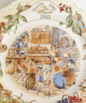 Brambly Hedge 2003 Year Plate - 8 inch plate - Royal Doulton China - 1st Quality