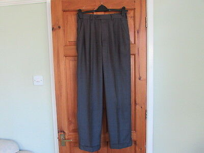 Perry  Ellis northern soul / 50s twin pleated turn up trousers W 30 X L 32