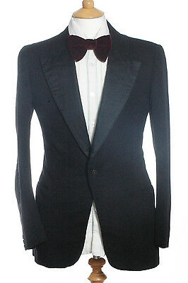 Vintage 1950's Green & Hollins Black Dinner Jacket 36 Xs