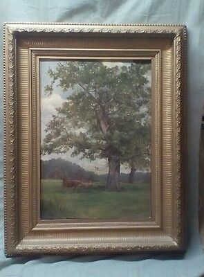 Lovely original Victorian landscape oil painting signed by TG Weavers