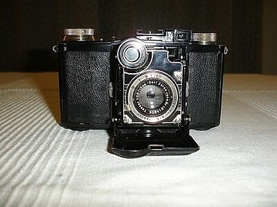 1934  ZEISS-IKON  SUPER  NETTEL 35mm CAMERA -- FULLY  SERVICED and VERY RARE.