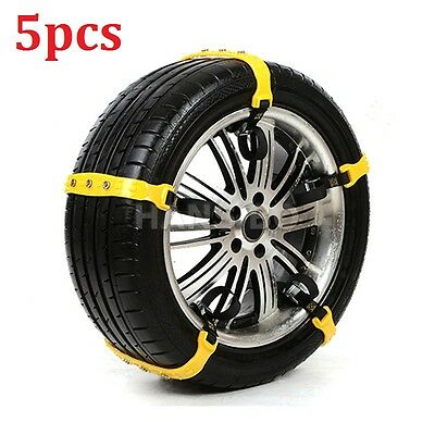 5PCS Snow Tire Chain for Car Truck SUV Anti-Skid Emergency Winter Driving