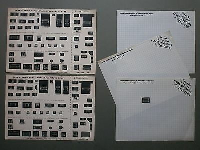 1950's John Perring Stores Room Plan Sheets & Press-Out Furniture Pieces G-Plan