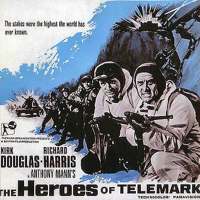 THE HEROES OF TELEMARK * Kirk Douglas * 4 x 600' Super 8mm * Faded Colour Sound