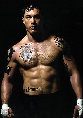 Unofficial TOM HARDY (3) glossy A4 print Poster - hot bum abs sexy body arms