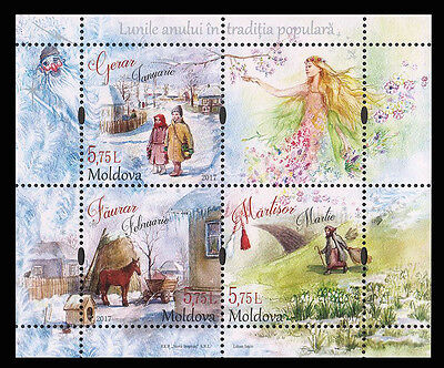 "Moldova 2017 ""Traditional Folk Months"" 3 MNH stamps"