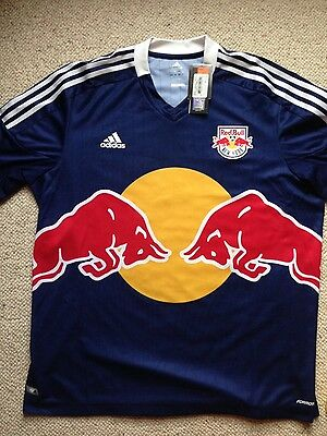 NEW YORK RED BULLS Adidas 2012 Authentic Away Shirt XXL