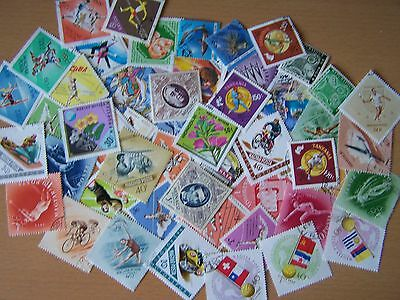50 Different Diamond Shaped Stamps,excellent.