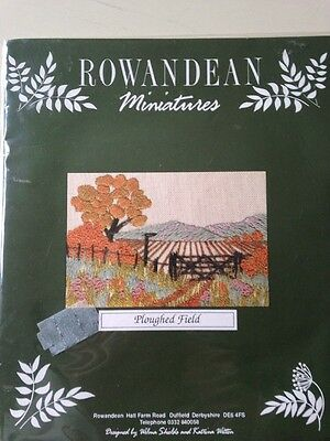 Rowandean Miniatures Embroidery Kit Ploughed Field Unused