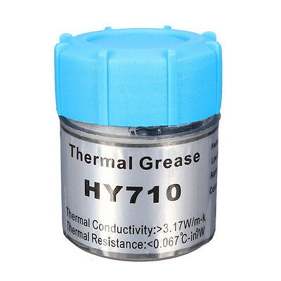 Halnziye HY710 10g Can Silver Thermal Grease Paste for CPU VGA LED Chipset etc.