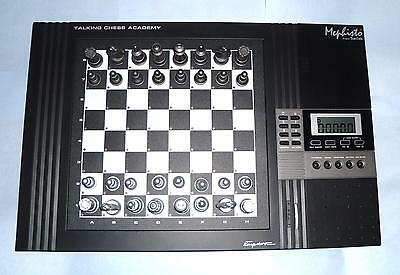 ideal gift kasparov Mephisto electronic Computer Talking Chess Academy by Saitek