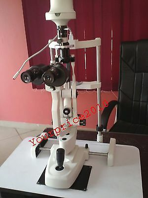 77A Slit Lamp 2 Step  Haag Streit Type With Table and Accessories Ophthalmology
