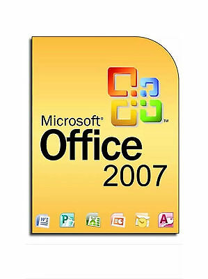 Office 2007 for 3 users LIFETIME LICENCE 9 programs inc Word Excel Outlook etc