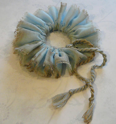 COLLAR, RUFFLE, baby blue, suitable  for  teddies & dolls