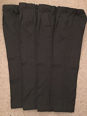 Boys School Trousers (Marks & Spencer) IMMACULATE Age 7-8 Years. 4 PAIRS!
