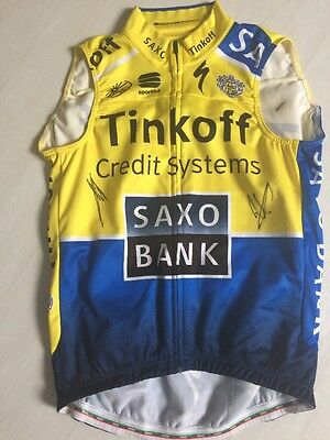 Tinkoff jersey signed by Peter Sagan and Alberto Contador
