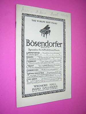 B.b.c. Symphony Orchestra Programme. Queen's Hall 1932. Conductor Adrian Boult
