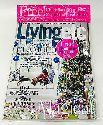 Living etc Magazine December 2016 - FREE CHRISTMAS GIFT GUIDE! (BRAND NEW COPY)