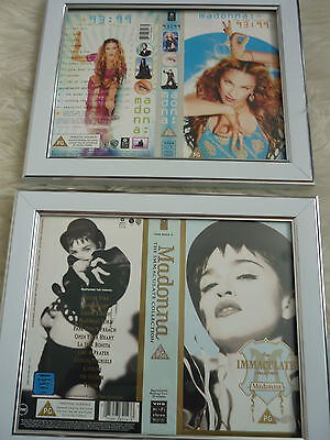 Madonna 93:99 & Immaculate collection Cover Double sided Vhs sleeves Framed