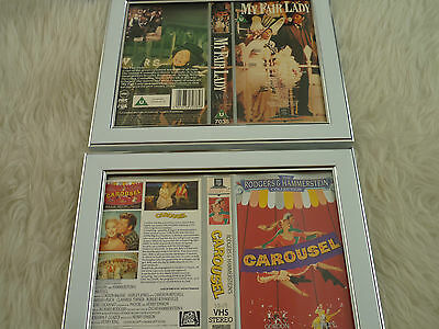 My fair lady & carousel Rodgers hammersteins Bundle Cover Vhs sleeves Framed
