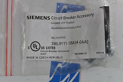 Siemens 3WL9111-1BA34-0AA0 Lockable OFF Position Circuit Breaker Accessory NEW
