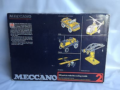 Meccano 2 - Vintage construction set in original box with instructions
